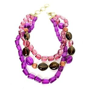 Jones NY Colorful Large Beaded Statement Necklace